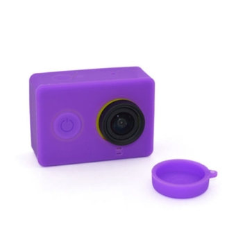 Harga 1 pcs Sports Action Camera Lens Cover for Xiaomi Yi WIFI Action Camera Purple