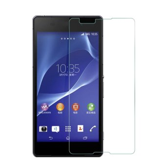Harga Sony Experia Xperia E4 / Dual Tempered Glass Screen Protector 0.32mm - Anti Crash Film - Bening