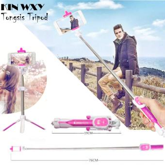 Harga KIN WXY Tongsis 3 in 1 Monopod Tripod Legs Wireless Bluetooth - PINK