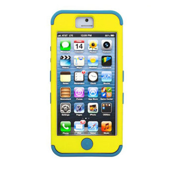 Harga Leegoal Yellow&Blue Body Armor Impact Resistance Case Cover Fit for iPhone 5 5S - intl