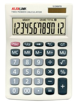 Harga ALFA LINK Calculator Desktop 12 Digits CD-12 Grey