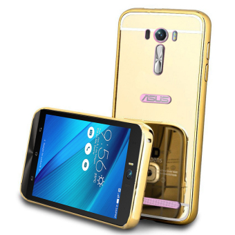 Harga Casing Asus Zenfone Selfie Bumper Chrome With Backcase Mirror - Gold