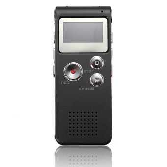 Harga Rechargeable 8GB Digital Voice Recorder Audio Dictaphone MP3 Player (Black)