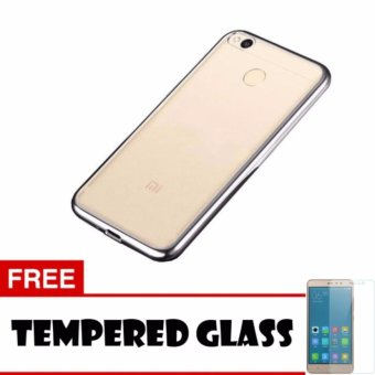 Softcase Ultrathin Shining List Chrome Jelly For Xiaomi Redmi 4X Aircase Silver Tempered .