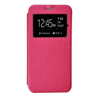 Smile Flip Cover Case Infinix Zero 3 X552 - Hot Pink