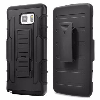 Harga for Samsung Galaxy Note 5 [Military protection] GuluGuru Heavy Duty Armor Belt Clip Holster With Built-in Kickstand Cell Phone Drop Protection Case Cover - intl