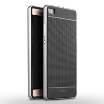 Harga iPaky Slim TPU+PC Shockproof Hybrid Case for Huawei P8 (Silver)