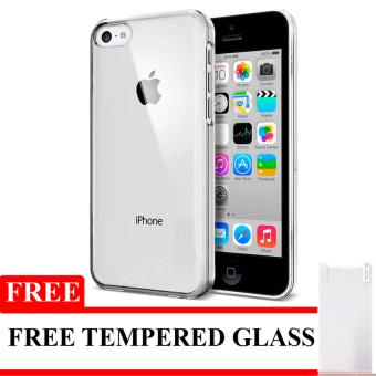 Harga Softcase Ultrathin Untuk Iphone 5 / 5S / SE - Hitam Clear + Free Tempered Glass