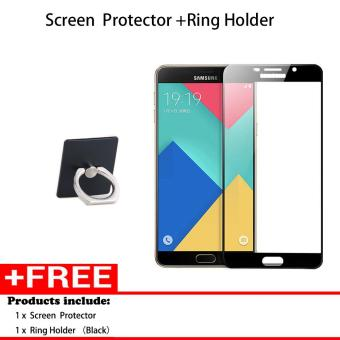 Harga Full Cover Screen Protectors and Ring holder 9H Super Hardness HD Toughened Tempered Glass for Samsung galaxy C9 Pro - intl