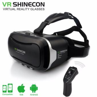 Harga VR Shinecon 2.0 Virtual Reality Headset 3D Movies Games Video Glasses+Controller 2.0 - intl