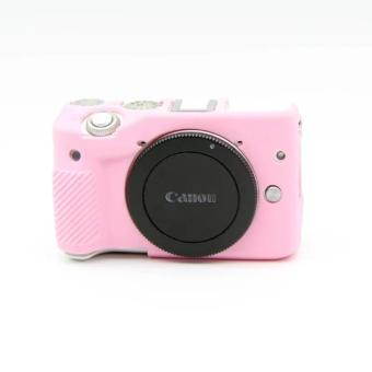 Harga Soft Silicone Rubber Camera Case for Canon EOS M3(Pink) - intl