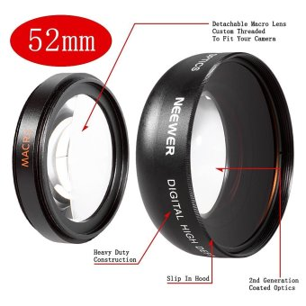 Harga Neewer 52MM 0.45X Wide Angle High Definition Lens with Macro for NIKON D5300 D5200 D5100 D5000 D3300 D3200 D3000 D7100 D7000 DSLR Cameras