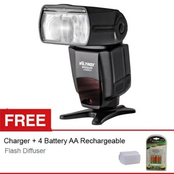 Harga Viltrox Flash/Speedlite JY-680A ECO for Canon/Nikon + Gratis Flash Diffuser L + Charger-Battery AA