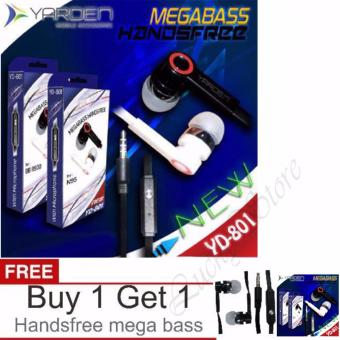 Harga Yarden Headsfree Mega Bass Sound Only Excellent Sound Quality With Mic - Putih + Buy 1 Get 1