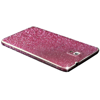 Harga for Samsung GALAXY Note 3 Dull Polish Rhinestone Diamond Shining Bling Full Body Skin Sticke Front Back Glitter Cover Film