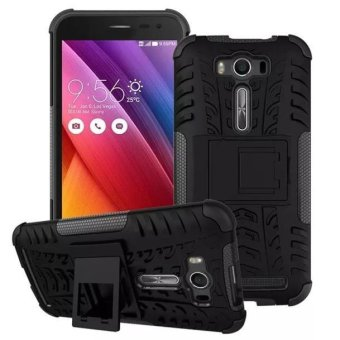Harga Armor Stand case Shockproof Back Cover For Asus Zenfone 2 Laser ZE550K 5.0 Black