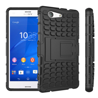 TPU + PC Armor Hybrid Case Cover for Sony Xperia Z3 Compact (Black) -