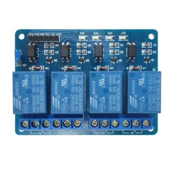Harga 5V Four 4 Channel Relay Module With optocoupler for PIC AVR DSP ARM Arduino - intl