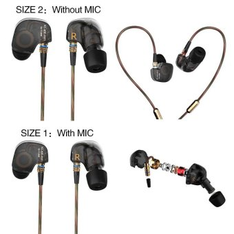 Harga KZ ATE Copper Driver HiFi Professional In-Ear Earbuds Stereo Sports Headphone - Intl
