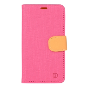 Harga Denim Cloth Texture Horizontal Flip Leather Case with Holder and Card Slots and Wallet for Lenovo S660 (Magenta) - intl