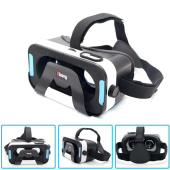 Harga GOOGLE CARBOARD Magnet control VR virtual reality VR 3D glasses(Black) - intl