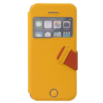 Harga Baseus Faith Leather Case For iPhone 5C Yellow