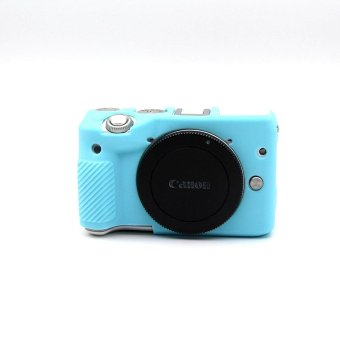 Harga Non-slip Soft Silicone Gel Rubber Camera Case Cover for Canon EOS M3(Blue) - intl