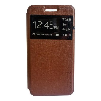 Harga My User Flip Cover Andromax ES - Coklat