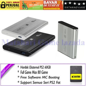 Harga Hardisk Eksternal PS2 60GB - Support All FAT Series Playstation 2 - Best Quality