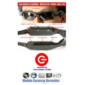 Harga Spy Optic Spy Optic Sunglass Camera - Kacamata Kamera Pengintai - Lensa Hitam - Sunglass Hidden Cam