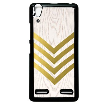 Harga Heavencase Case Casing Lenovo A6000 and A6000 Plus Hardcase Batik Kayu Chevron 02 - Hitam