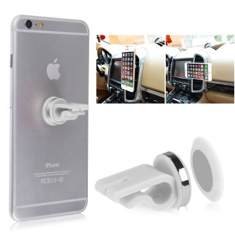 Harga Universal Car Magnetic Air Vent Mount Holder Stand For Samsung iPhone GPS Phone White - intl