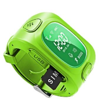 Harga Y3 Smart Watch SIM Card WIFI+GPS+LBS Kids Tracker SOS Call Smartwatch (Green)
