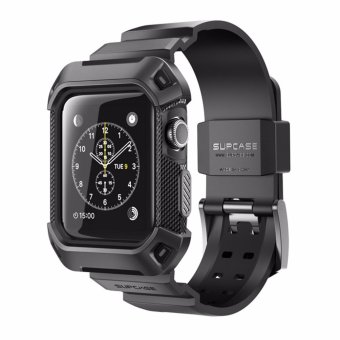 Harga SUPCASE [Unicorn Beetle Pro] Rugged Protective Case with Strap Bands for Apple Watch Series 2 2016 Edition, 42mm Black - intl