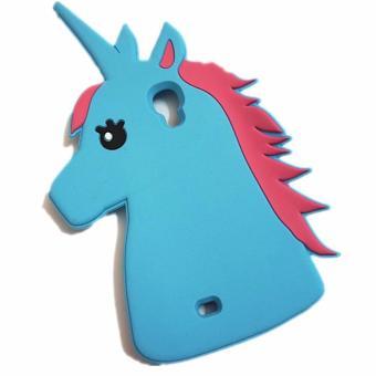 ... Fashion 3D Cute Cartoon Unicorn Soft Silicon Rubber Case Cover For Samsung Galaxy S4 intl
