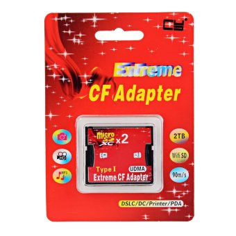 Harga CY EP-093 Dual TF to Type I Flash Card CF Reader Adapter for Nikon