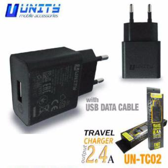 Harga UNITY travel charger with usb 2.4A micro usb samsung ut-tc02 hitam