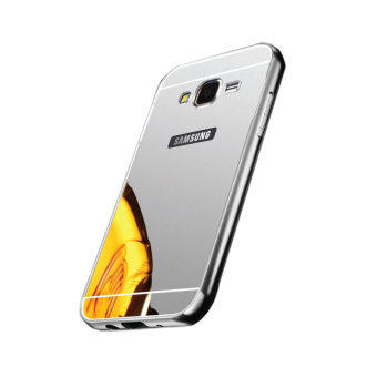 ... Gold Free Tempered Glass. Case Bumper Chrome With Backcase Mirror Untuk Samsung Galaxy J5 Source · Samsung Metal Aluminum Bumper Mirror Case for Samsung ...