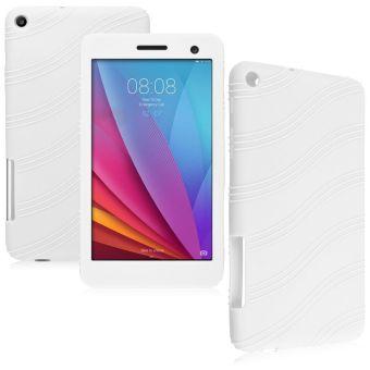 Karet silikon lembut kulit gel pelangsing untuk kasus Huawei T1 - 701U putih