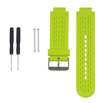 Harga Replacement Silicone Watch Band Strap for Garmin vivoactive /Approach S2/ Approach S4 GPS Watch With Pins & Tool in Lime Green