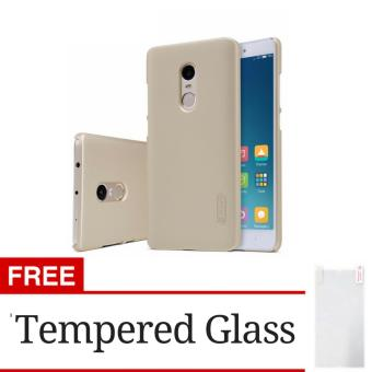 Harga Hunter Elegant Frosted Shield Back Cover Case For Xiaomi Redmi Note 4 - Gold + Gratis Tempered Glass