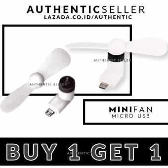 Harga Authentic Mini Fan Buy 1 Get 1 Free - Micro USB OTG Portable - kipas angin smartphone Android On The Go