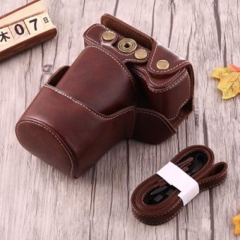 Harga Full Body Camera PU Leather Case Bag With Strap For Canon EOS M3 (Coffee) - intl
