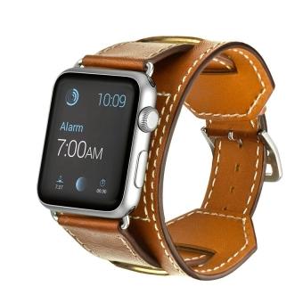 3-in-1 kulit asli manset gelang jam tangan tali pita dengan konektor untuk