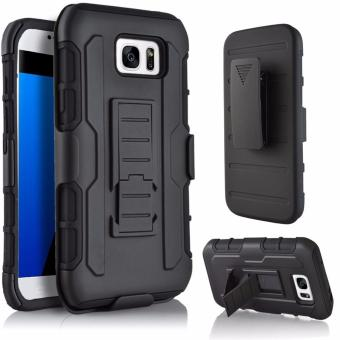 Harga for Samsung Galaxy S7 Edge [Military protection] GuluGuru Heavy Duty Armor Belt Clip Holster With Built-in Kickstand Cell Phone Drop Protection Case Cover - intl