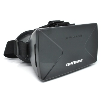 Harga Taffware Cardboard VR Box Head Mount Plastic Version 3D Virtual Reality for Smartphone - Hitam