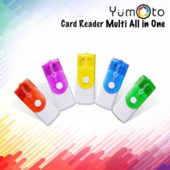 Harga Yumoto Card Reader usb All In One - 4 Slot Model Flashdisk Putar - random