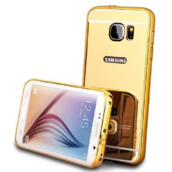 Case Metal Samsung Galaxy S7 Edge Bumper Mirror Slide - Gold