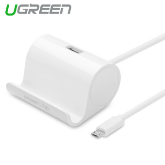 Harga UGREEN USB OTG Adapter with Cradle Compatible for LG g3 g4 g5 HTC Sony xperia Xiaomi (White)