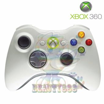 Harga Microsoft Xbox Stik 360 Wireless Controller Wired Gamepad Joystick Original For Xbox 360 / PC Windows / Stik Game Non Kabel / Stik Xbox 360 / Stick Xbox 360 - White / Putih